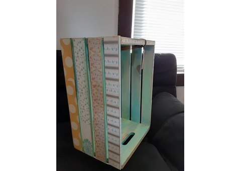 One of a Kind Upcycled Wood Crate