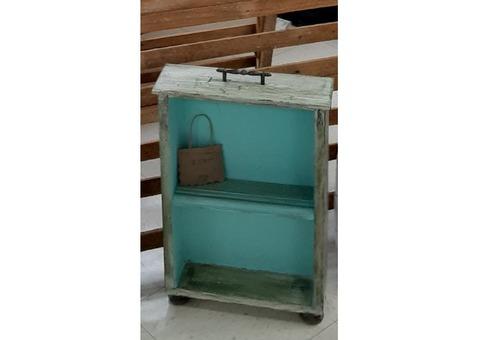 Repurposed, Salvaged Drawer - Display Shelf and Chalkboard
