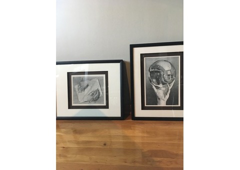 Two matted and framed Eschers