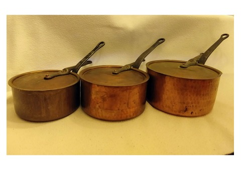 14 Pieces of Copper Cookware
